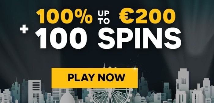 100 gratis spins welcome bonus