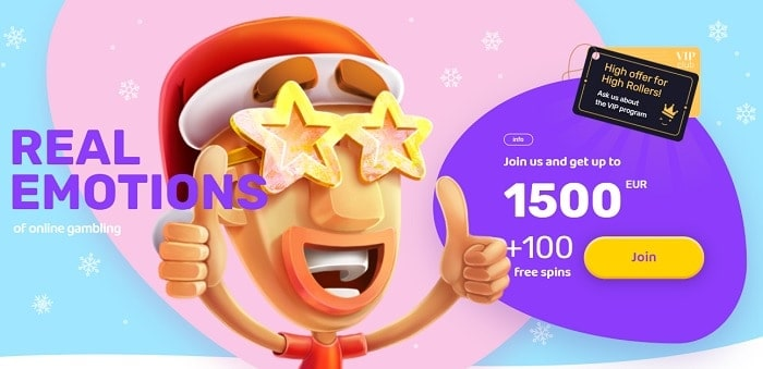 1500 EUR and 100 Free Spins