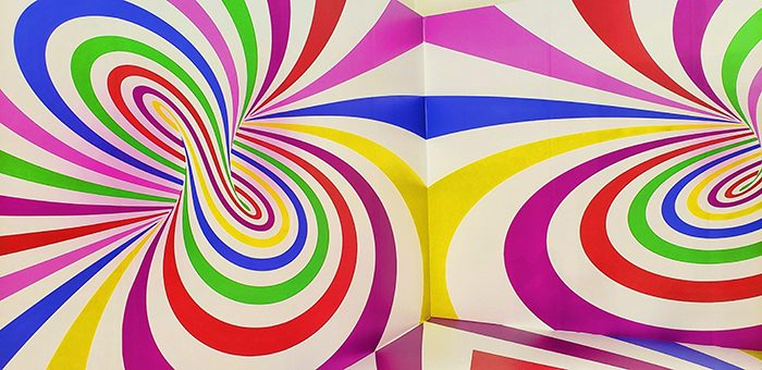 Walls with colorful swirls