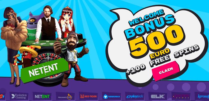100% bonus and 100 gratis spins