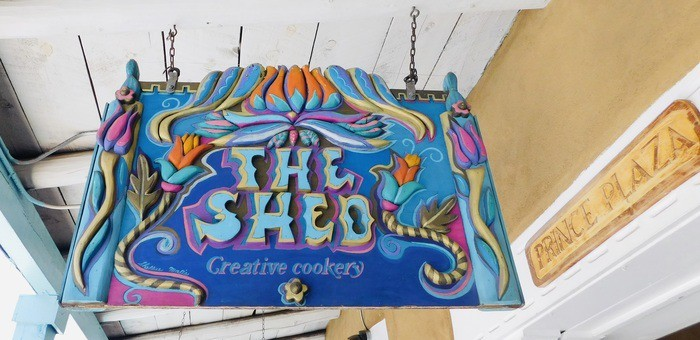 You can't miss the shed's colorful sign.