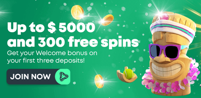 $5000 Welcome Bonus and 300 Free Spins for New Players