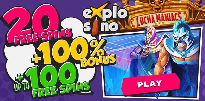 100 free spins welcome bonus