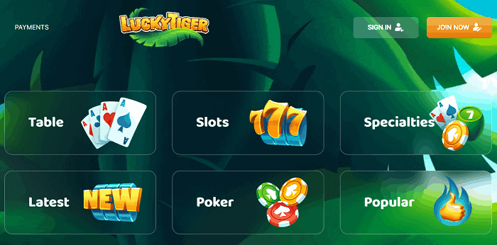 Lucky Tiger Casino Review