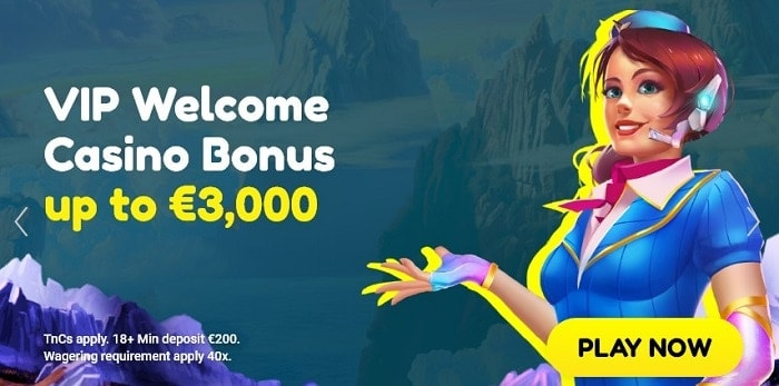 VIP Welcome Bonus for High Roller Players