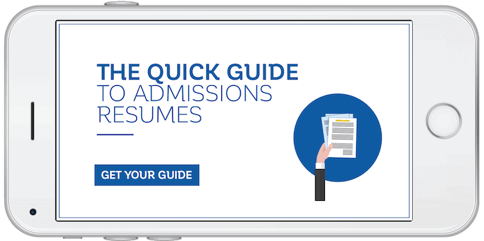 admissions-resume-guide