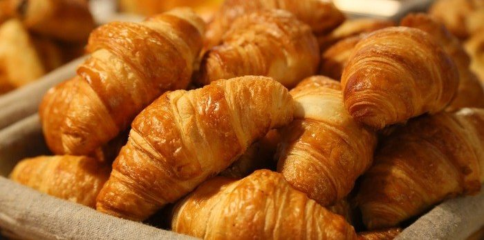 Croisssants for breakfast