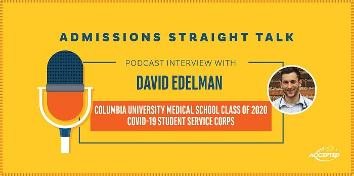 Linda Abraham interviews Dr. David Edelman, a recent graduate of Columbia Medical School.