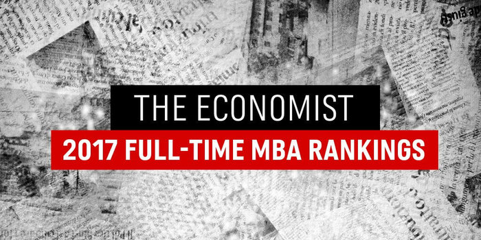 The Economist list of top 10 full time MBA programs