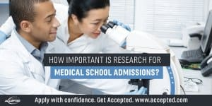 How important is research for medical school admissions