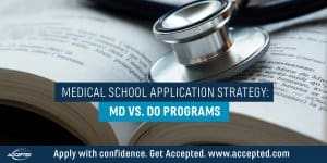 Medical school application strategy - MD vs. DO Programs