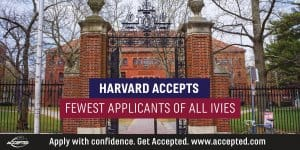 Harvard accepts fewest applicants of all Ivies