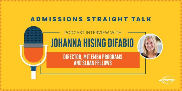 Podcast Interview with Johanna Hising DiFabio, Director of MIT EMBA Programs & Sloan Fellows
