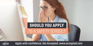 Should you apply to a safety school?