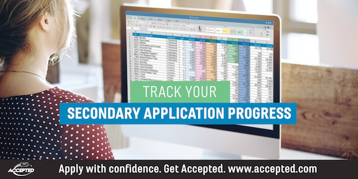 secondary application progress tracking