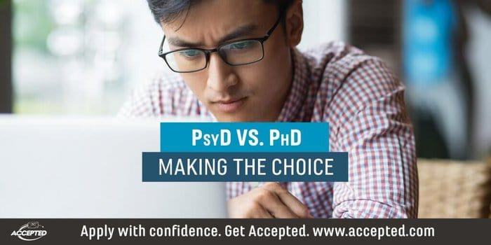 PsyD vs. PhD making the choice