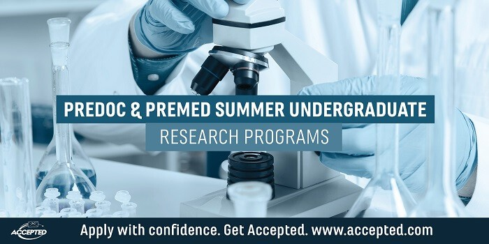 Predoc & Premed Summer Undergraduate Research Programs