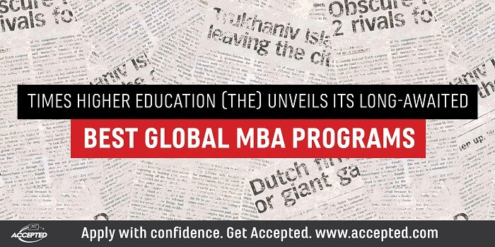 Times Higher Education Unviels its Best Global MBA Programs