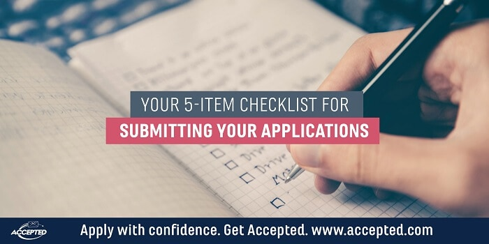 Your 5-Item Checklist for Submitting Your Applications
