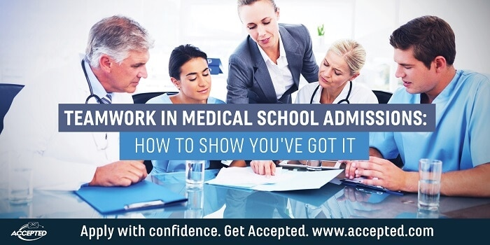 Teamwork in Medical School Admissions