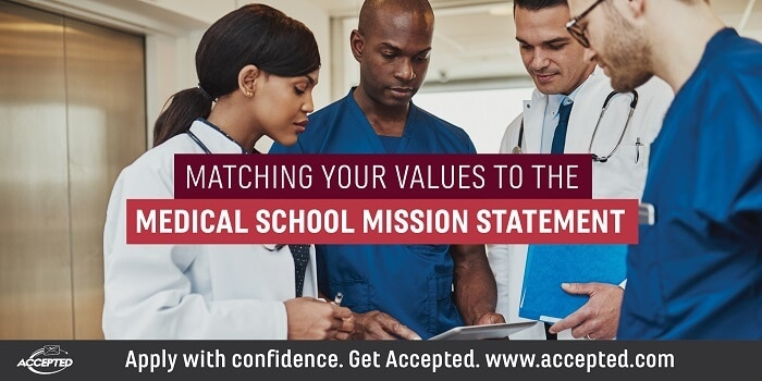 Matching Your Values to the Med School Mission Statement