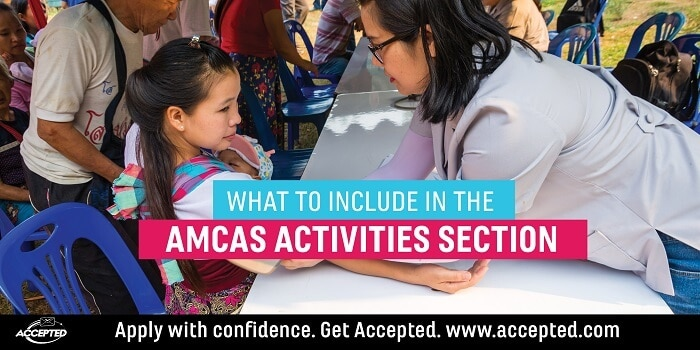 What to Include in the AMCAS Work and Activities Section