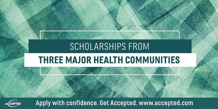 Scholarships From Three Major Health Communities