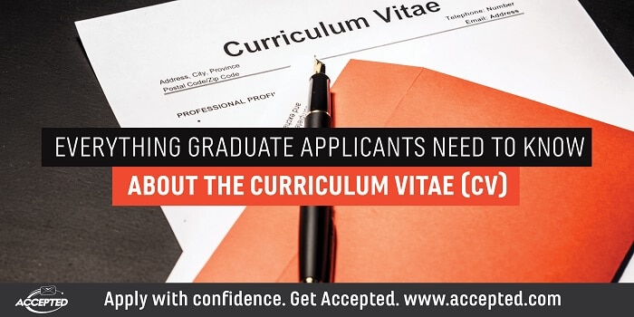 Everything Grad School Applicants Need to Know About the CV