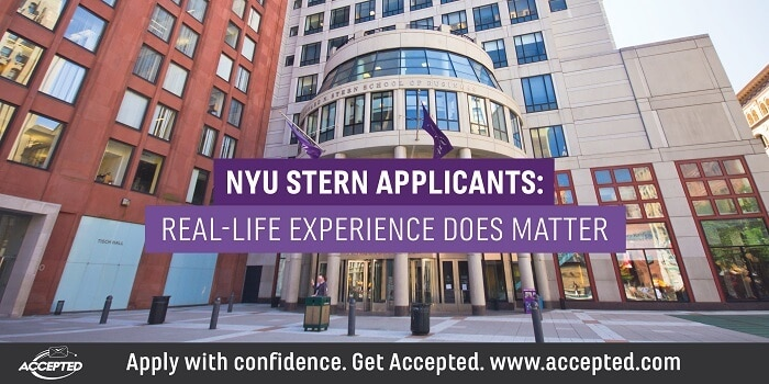 NYU Stern Applicants Experience Matters