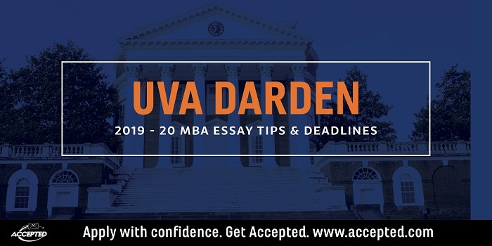 UVA Darden 2019-2020 MBA Essay Tips and deadlines