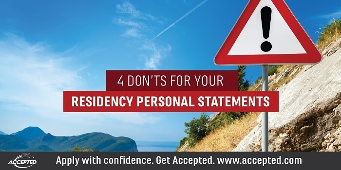 4 Donts For Your Residency Personal Statement