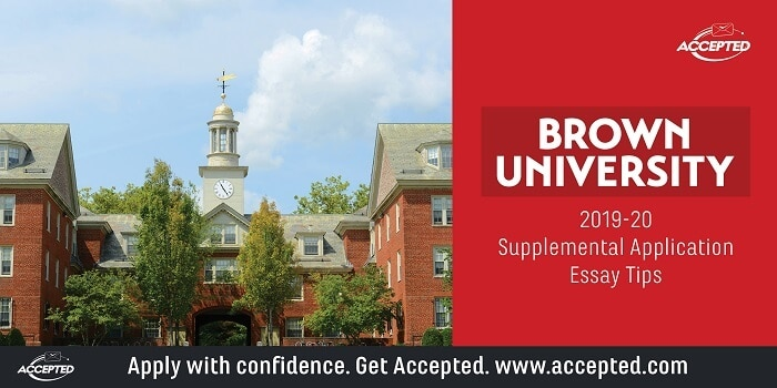 Brown University 2019-2020 supplemental application essay tips