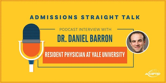 Podcast interview with Dr. Daniel Barron, resident physician at Yale University. Listen to the show!