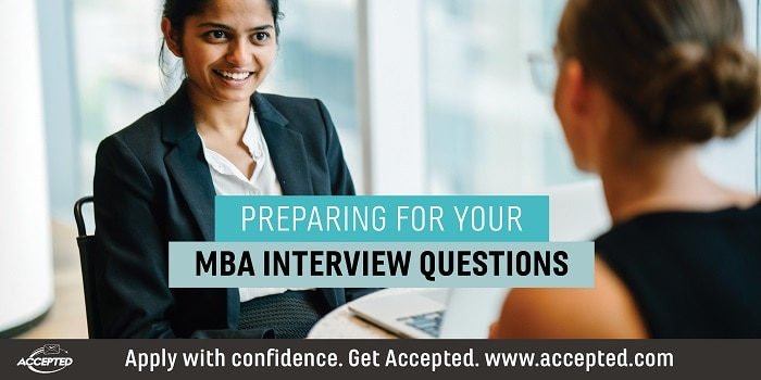 Preparing for your MBA interview questions