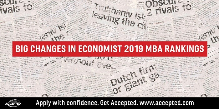 Big changes in Economist 2019 MBA Rankings