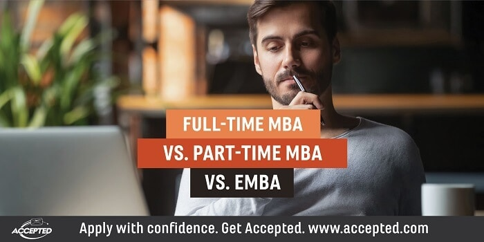 Full-time MBA vs Part-time MBA vs EMBA