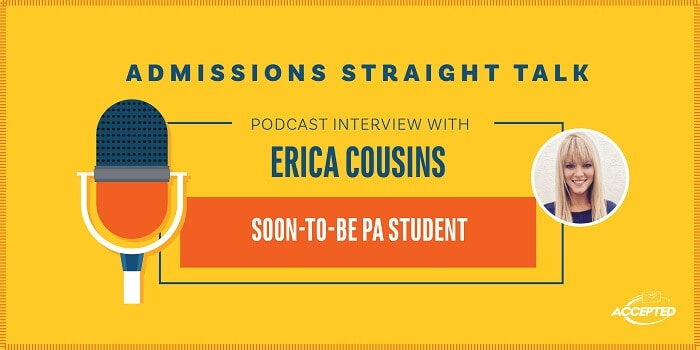 Listen to our podcast interview with Erica Cousins, soon-to-be PA student!