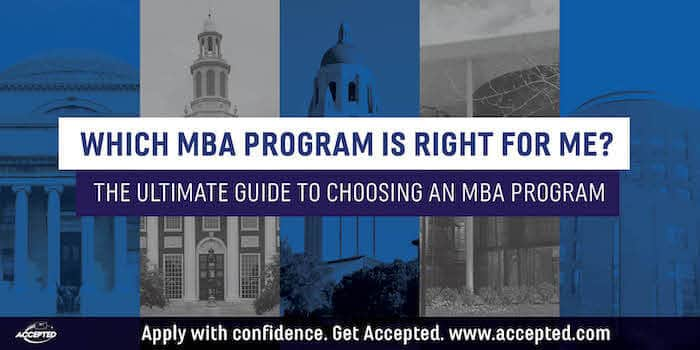 Which MBA program is right for me?
