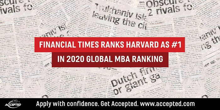 Financial Times ranks Harvard as #1 in 2020 global MBA rankings