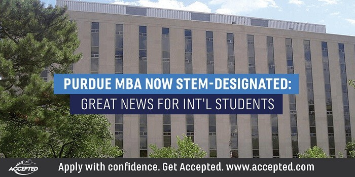 Purdue MBA now STEM designated