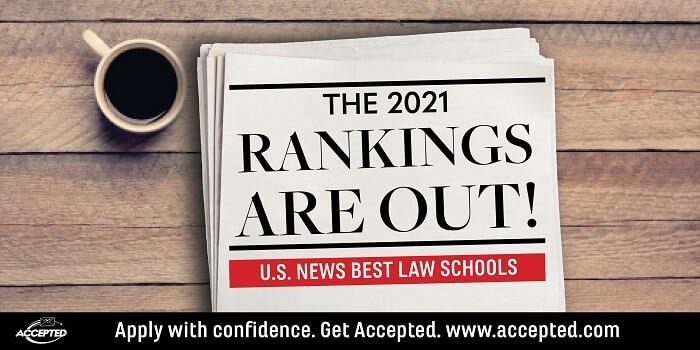 U.S. News Releases 2021 Ranking of Best Law Schools