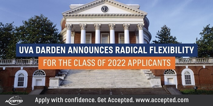 UVA Darden announces radical flexibility for the Class of 2022 applicants