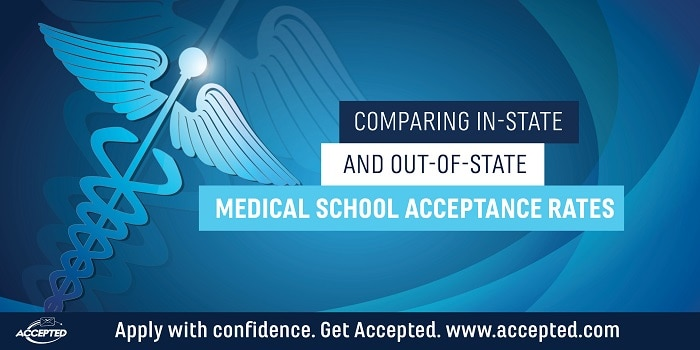 Comparing in-state and out-of-state medical school acceptance rates