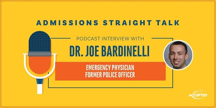Listen to our podcast interview with Dr. Joe Bardinelli, emergency physician and former police officer.