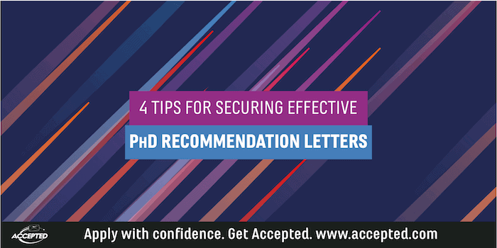Recommendation Letters for PhD Admissions