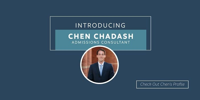 Introducing Chen Chadash, admissions consultant