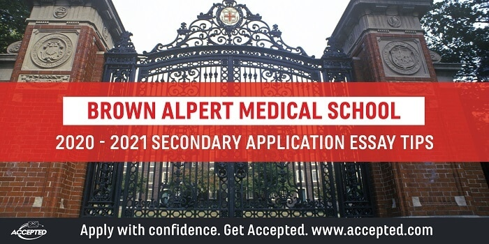 Brown Alpert Medical School supplemental essay tips
