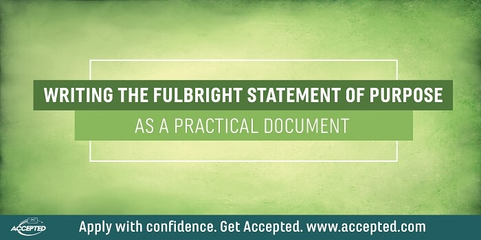 Writing the Fulbright Statement of Purpose as a Practical Document