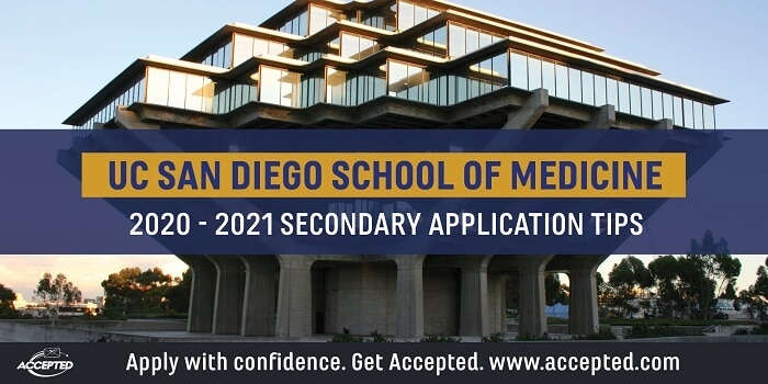 UCSD School of Medicine secondary application essay tips