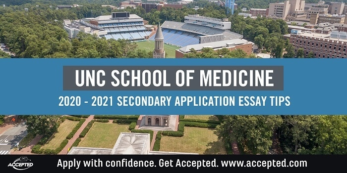 UNC Chapel Hill School of Medicine secondary application tips and deadlines
